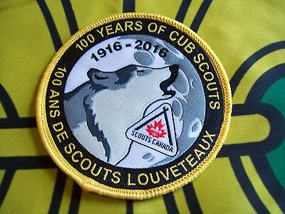 Canadian Scout badge/patch 100 Years Of Cub Scouts