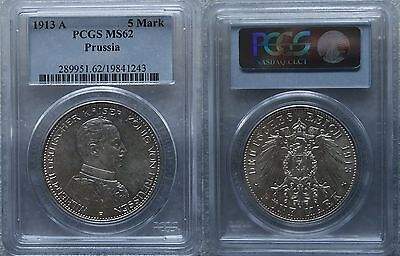 5 Mark 1913-A Prussia PCGS MS62