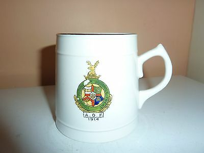 Florentine China 8.3Cm High Mug With Ancient Order Of Foresters, 1914 Crest
