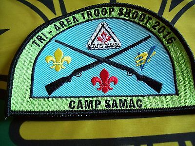 Canadian Scout badge/patch  Tri-Area Troop Shoot Camp Samac