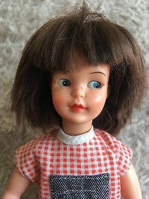 Vintage 60s Pedigree Sindy Mini Patch Doll In Original Dungarees And Shoes
