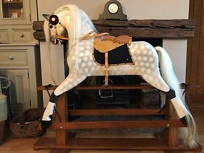 Large Vintage Wooden Collinson Traditional Rocking Horse Child's Gift Birthday