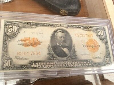 1922 $50 Gold certificate  Large size US banknote