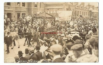 Warks Coventry Lady Godiva Pageant Real Photo Vintage Postcard 23.5