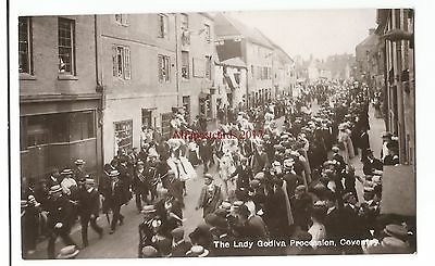 Warks Coventry Lady Godiva Procession Real Photo Vintage Postcard 23.5