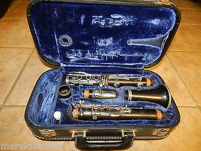 Vtg Evette Clarinet By Buffet Crampon Paris France  D 25149 With  Case