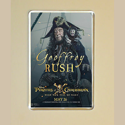 Pirates Of The Caribbean -Geoffrey Rush - Captain Hector Barboss - Fridge Magnet