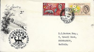 1963 National Nature Week (Ord) On  Excellent Bpa/pts Fdc - Diss Norfolk Cds