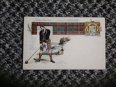 Old PC Clan MACDOUGAL Tartan Badge Slogan and Coat of Arms