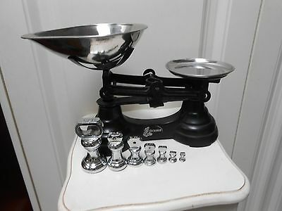 Vintage/Traditional Librasco/Libra Kitchen Scales & Chrome Bell Weights.