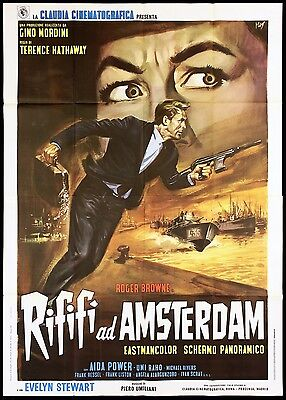 Rififí Ad Amsterdam Manifesto Cinema Film Thriller Sergio Grieco Movie Poster 4F