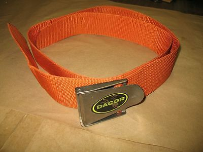 Vintage Dacor Diving Equipment Lead Weight Style Orange Weight Belt