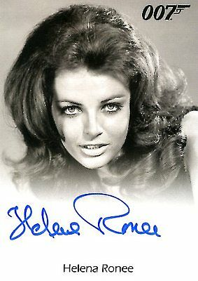 2017 James Bond Archives Final Ed FULL BLEED AUTOGRAPH card HELENA RONEE