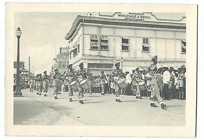 Belize Home Guard Defence Force Parade Outside J Brodie's Store RP PPC, Unposted
