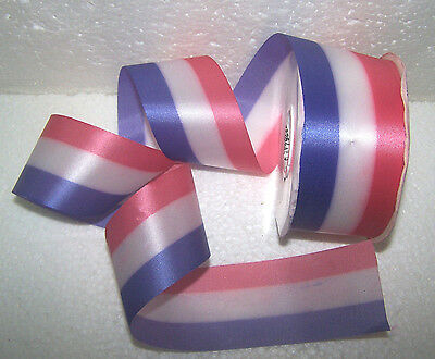 "Red White Blue Ribbon Roll Stripes 2"" 50 Yard Roll July 4Th Party Decoration Usa"