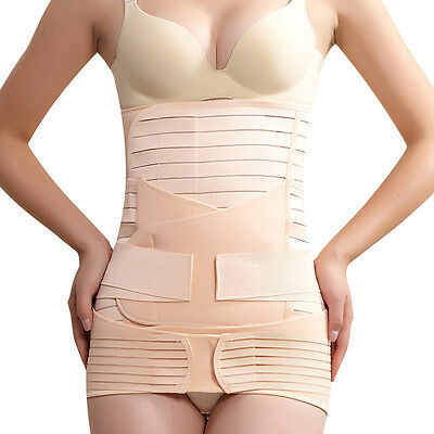 Chic Postpartum Recovery Band Belly Support Girdle Pelvic Reducer Wrap Belt Set