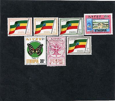 Ethiopia: lot of 7 stamps. SCV: $7.85. see description.