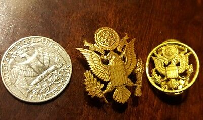 US ARMY OFFICER WOMAN'S HAT CAP INSIGNIA     ENLISTED BADGE DEVICE  Vietnam era