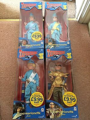 Carlton Thunderbirds complete set of 4 from 2001 - Alan, The Hood, Virgil,Scott