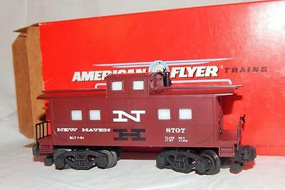 American Flyer 6-48707 New Haven Square Window caboose NH illuminated S gauge