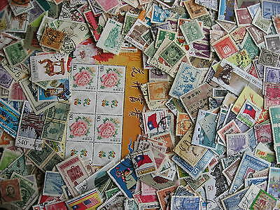 CHINA & PRC 500 a quadruple sized elusive mixture (duplicates, mixed condition)