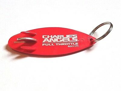 2003 Charlies Angels Movie Promo Keychain #1 - Surf Board Bottle Opener Lucy Liu