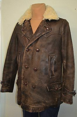 Original 1930s German NSU Flight Leather Jacket DKW Motorcycle Oldtimer Coat BMW