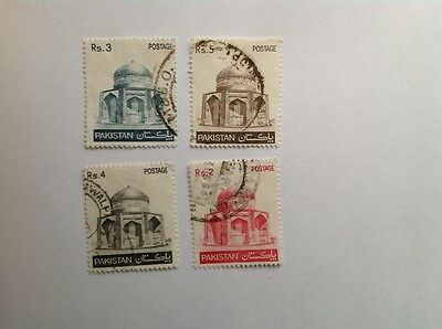 1978 Pakistan Mausoleum Of Ibrahim Khan Makli Thatta Set Of 4 Stamps