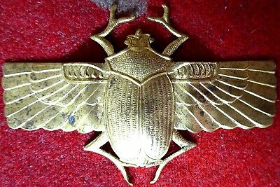 Egyptian Revival Decorative Figural Brass BEETLE FITTING