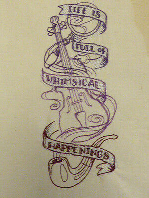 Whimsical Sherlock Holmes Panel ~ Embroidered Quilt Block/Panel