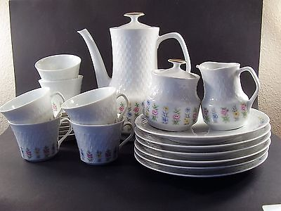 MITTERTEICH Bavaria FLORAL Porcelain COFFEE Tea SERVING Dessert SET ~ 23 Piece