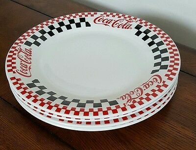 """Set of 4 Coca Cola 1996 Gibson 10 1/2"""" Dinner Plates"""