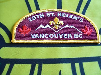 Canadian Scout badge/patch 29th St Helen's
