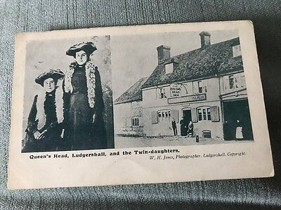 Ludgershall Queens Head Pub & Twin Daughters Pre 1914