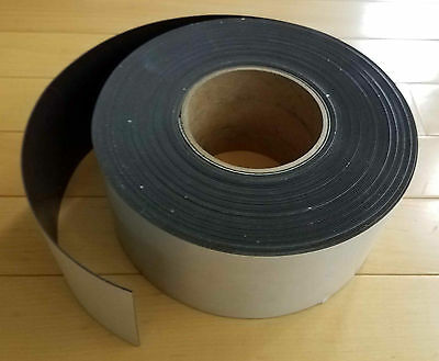 """NEW roll magnetic strip tape adhesive-backed   3"""" X 50' X 30ml Indoor or Outdoor"""