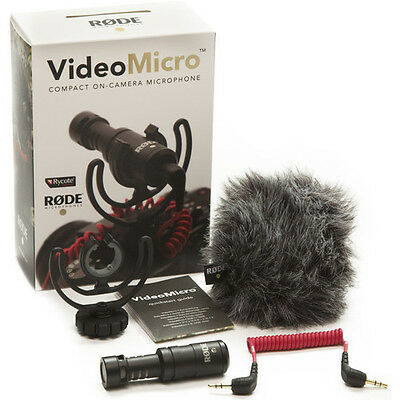 Rode VideoMicro Compact On-Camera Microphone Video Micro for Camera - NEW!