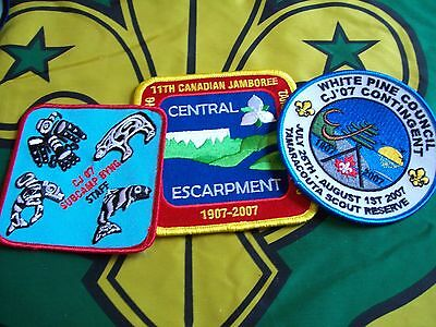 Canadian Scout badge/patches 3 CJ 07 Badges