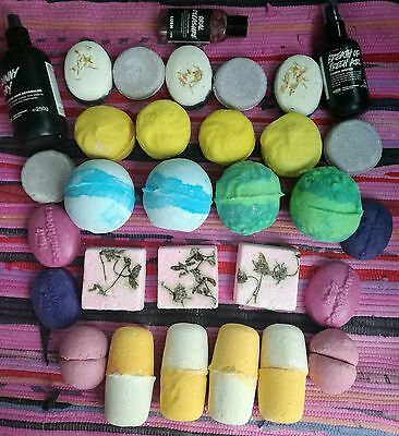 Lush bundle, bath bombs, shampoo& conditioners, hair sprays, toothpaste tab