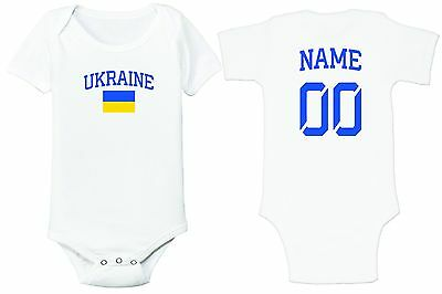 Ukraine Soccer Baby Outfit Infant Girls Boys Bodysuit Customized T-shirt