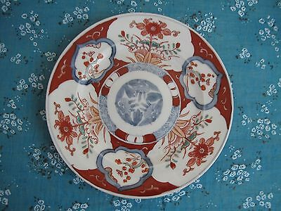 Antique 19th Imari Japanese Plate Meiji Period Hand Paimted