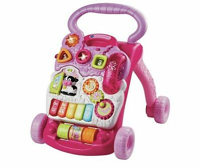 Girls Baby Walker VTech First Steps Activity Learning Centre Play Toy Music Pink