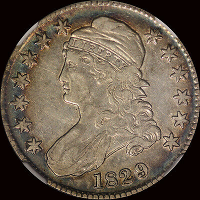 1829 Capped Bust Half Dollar Ngc Vf 30