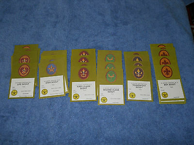 Lot of 40 Boy Scouts certified certification cards Life Star First Second Class