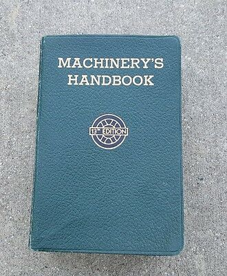 Vintage Machinery's Handbook 13th edition for Machine Shop and Drafting Room