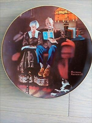 Norman Rockwell Evenings Ease 1984 Collector Plate