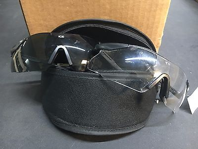 ESS Military Eye Pro Ballistic Protective Shooting Glasses In Smoke and Clear