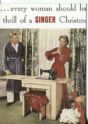 Post Card With An Advertisement From A Magazine Singer Sewing Machines