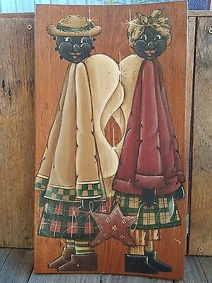 Country Primitive handpainted timber panel