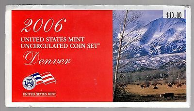 2006 U.s. Uncirculated Coin Set In Mint Cond. ( Denver Mint Marks )