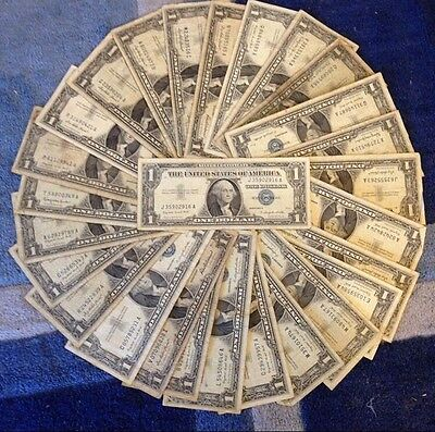 ✯1923-1957 One Dollar Note ✯ $1 Silver Certificate VG+ ✯ Bill Blue US Currency✯